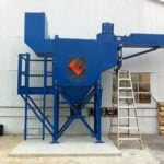 Dust Collector with Ladder and Platform