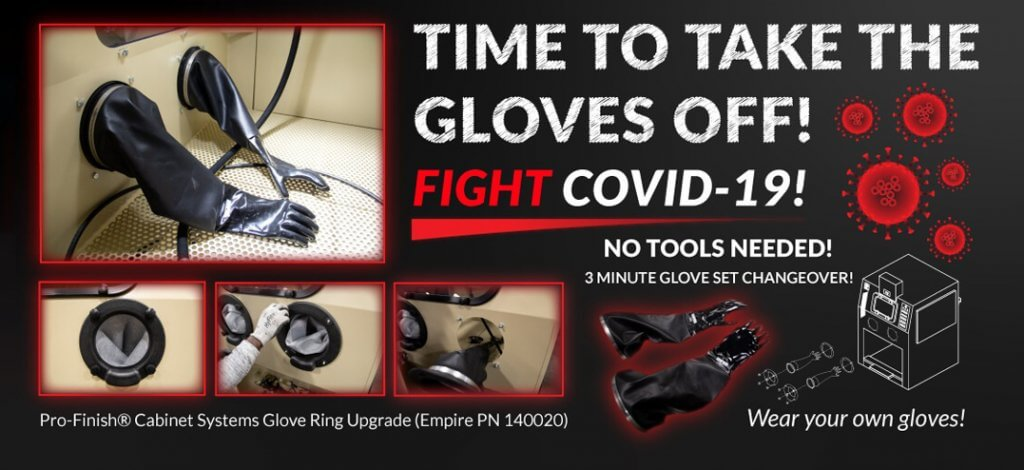 Glove Ring Upgrade for Empire abrasive pro-finish cabinet systems